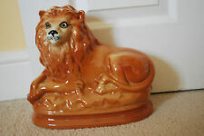 Antique Staffordshire Pottery Figure of a Recumbent Lion - Victorian  #16