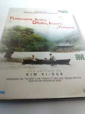 """DVD """"PRIMAVERA VERANO OTOÑO INVIERNO ... Y PRIMAVERA"""" CON FUNDA CARTON KIM KI-DU"""