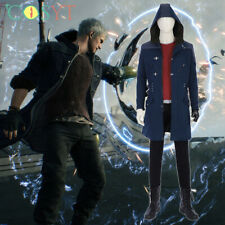 Devil May Cry V Nero Cosplay Costume with Long Jacket Coat Casual Hoodie Coat
