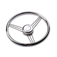 Boat Stainless Steel Boat Steering Wheel 9 Spoke 13-1/2'' Dia for Marine Yacht