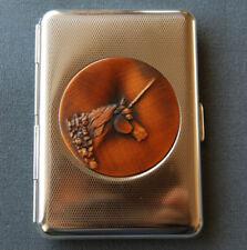 Hansaware Poly Chrome Copper Unicorn Slim Pocket Cigarette Case Made in Germany