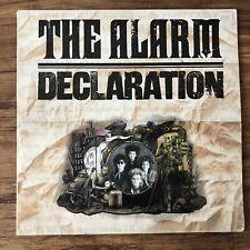 The Alarm Declaration Album Vinyl LP Lyric Inner