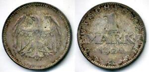 Germany 1924 J 1 Mark AU