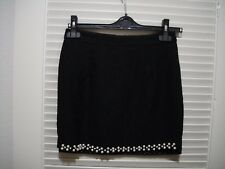 Korean Fashion Black Lace Pearl Mini Skirt Size XXS XS S Business Night Formal
