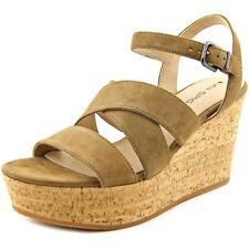 Calzado de mujer sandalias con tiras marrones en ante