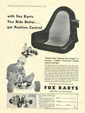 Vintage 1961 Fox Mak Kart & Satelite Seat Go-Kart Ad