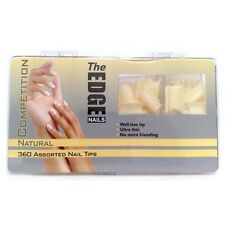 THE EDGE COMPETITION  WELL-LESS NAIL TIPS BOX OF 360 (GENUINE EDGE ITEM)