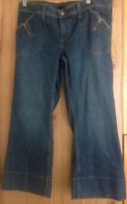 Womens JUICY COUTURE Cropped Capri Zip Pocket Jeans Size  30 Pre-owned