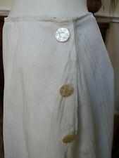 Edwardian White on White Striped Skirt Art Nouveau Titanic A-Line