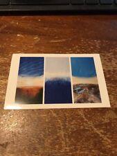 Postcard 1113-Q Nathalie Marshall-Nadel Sun Rising Rain Island Lake Country 1993