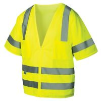 Pyramex Class 3 Reflective Mesh Safety Vest, Yellow/Lime