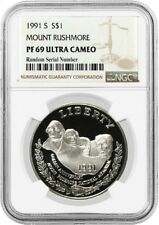 1991 S $1 Mount Rushmore Commemorative Silver Dollar NGC PF69 UC