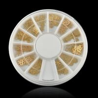 Noble Gold Mixed Styly 3D Metal Glitters Slice Nail Art Decoration Lot 360Pcs L7