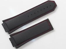 29mm Black Rubber Watch Band Strap with Red Stitch For F1 King Power