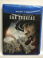San Andreas (Blu-ray/DVD,2015,2-Disc Set)Dwayne Johnson,New Factory Sealed! USA!