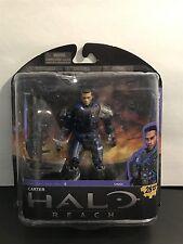 "Halo Reach 6"" Carter Unhelmeted Figure Series 5 UNSC Spartans New MIB Mint"