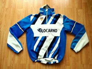 Super Sport Locarno Swiss Velo Club Windtex Thermal Cycling Jacket Gr. S NEW!