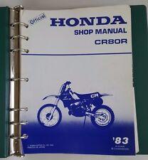 1983 HONDA CR80R MOTORCYCLE  FACTORY SERVICE MANUAL / WITH HONDA BINDER