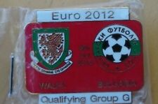 WALES vs BULGARIA Euro Qualifying Group G 2012  Pin Badge 08 -10-2010