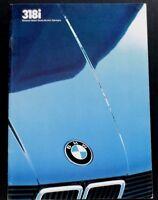 "ORIGINAL 1984 BMW 318i PRESTIGE SALES BROCHURE ~ 44 PAGES ~ 8"" X 11.5"" ~B384"
