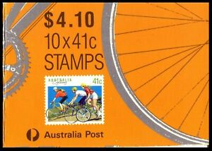 """1989 Life Be In It - """"Cycling"""" $4.10 Booklet Leigh Mardon Print"""