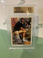 1991 Upper Deck BRETT FAVRE Rookie RC #13 BGS 9.5 TRUE GEM - Atlanta, Green Bay