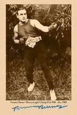 CHAMPION TOMMY BURNS 1906 Boxing Legend Cabinet Card Vintage Photo CDV A+