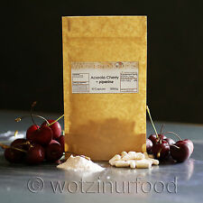Acerola Cherry Capsules Whole Food Vitamin C 1500% RDA 500mg