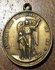 MÉDAILLE RELIGIEUSE ANCIENNE ANGÉLISME SUIS MADAVIT DE TE . GONZAGA (286)