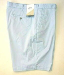 """IZOD Saltwater Men Size 42"""" Relaxed Classic Fit Stretch Chino Shorts Blue, New"""