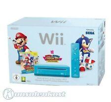 Wii Konsole RVL-101 blau Mario & Sonic LE Pak + Spiel + orig mote Plus + Zub mit