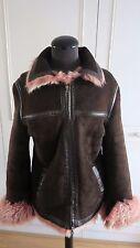 Reiss sheepskin shearling flying jacket winter Toscana fur coat  L UK14EU42US12