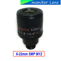 6-22mm 5MP M12 Varifocal Lens F1.6 for CMOS/CCD Sensor Security IP/AHD Camera
