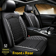 5-Seat Car Seat Covers Breathable PU Leather Front+Rear Full Set For All Seasons