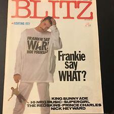 VINTAGE UK MUSIC MAGAZINE BLITZ # 23 JULY/AUG 1984 FRANKIE SAYS RELAX!