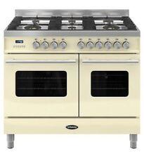 Britannia Delphi RC10TGDECR Dual Fuel Range Cooker Gloss Cream & Stainless Steel