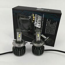 V16 Turbo LED Headlight Kit 80W & 7600Lm/Set, H4/HB2/9003 Hi/Lo, DIY 6000K/8000K