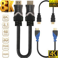 8K 4K ULTRA HIGH SPEED HDMI v2.1/2.0/1.4 CABLE 1.5FT Video 4K 2160p HD 1080p 3D