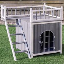 New listing Casas Para Perros Accesorios Para Perros Gatos Grande Madera Con Puerta Escaler