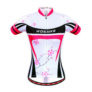 Womens Cycling Outfits Short Sleeve Cycling Jersey+Shorts Riding Clothing Wear