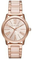 Michael Kors Ladies Hartman Rose Gold-Tone and Blush Acetate Watch - MK3595