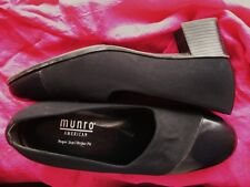 MUNRO SHOES BLACK FABRIC/LEATHER PUMPS ! SIZE 8.5 M/39 MADE IN USA !