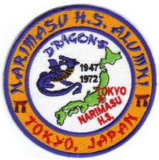 NARIMASU HIGHT SCHOOL ALUMNI PATCH, TOKYO JAPAN, GONE BUT NOT FORGOTTEN        Y
