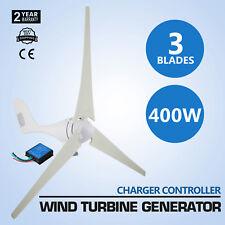 400W Wind Turbine Generator 12V 3 Blades Windmill Charge /Controller
