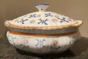 Temptations By Tara 2 Qt Lidded Oval Baking Serving Dish Morning Glory