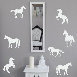 Horses Wall Stickers Set of 19 Removable Vinyl Home Decor New Horse 3inch