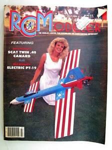 Radio Contrôle Modeleur Magazine July 1989 Anglais Modélisme