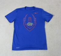 Nike Florida Gators Shirt Adult Medium Blue Orange DriFit Football UF Mens