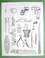 1816 TECHNOLOGY Print - Surgery Surgical Instruments Amputing Saw Bandage