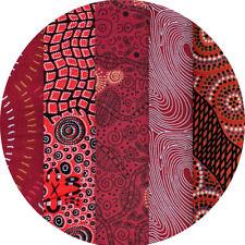 JELLY ROLL - AUSTRALIAN ABORIGINAL ART FABRICS - 25 x STRIPS - RED EARTH #3